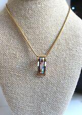 Freywille Ode to Joy of Life Heavenly Joy Wave Pendant Necklace 24kt Gold Rare