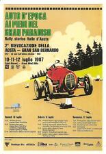 RALLY AUTO D'EPOCA_2° RIEVOCAZIONE DELLA AOSTA - GRAN SAN BERNARDO_luglio 1987