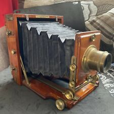 Lovely Antique Lancaster Wood And Brass 1891 Half Plate Instantograph Camera