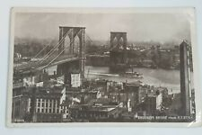 1909 Brooklyn Bridge From N Y City Real Photograph Postcard. To: Austria