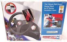 COMPUSA Wheel Formula One Retro Racing Simulator For PC. Racing steering wheel.