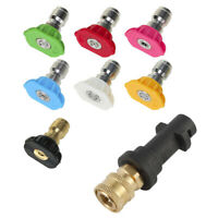 High Pressure Washer Spray Nozzles +Water Spray Nozzles Tips Adapter For Karcher