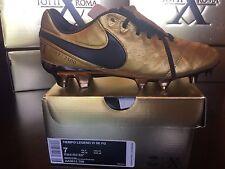 Nike Tiempo Legend VI SE FG AA0612-706 TOTTI X ROMA Gold Soccer Cleats Size 7