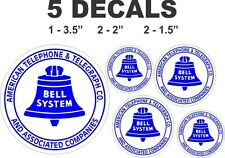 5 Vintage Style Bell American Telephone & Telegraph CO. Vinyl Decals