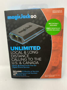 magicJackGO 2017 VOIP Phone Adapter Portable Home and On-The-Go Digital Phone