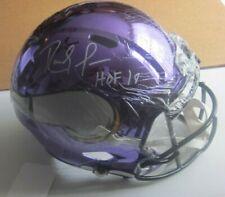Randy Moss Autographed w/ HOF Minnesota Vikings Full Size Chrome Helmet  JSA