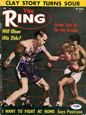 """Carl """"Bobo"""" Olson Autographed Signed The Ring Magazine Cover PSA/DNA COA S48620"""