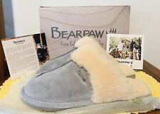 Bearpaw Womens Loketta Suede Slippers Gray Fog Size 11 M