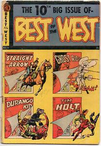 BEST OF THE WEST #10 - 1953 - Golden Age - Ghost Rider - Tim Holt - Durango Kid