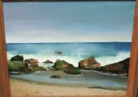 DECELL  SMALL ORIGINAL ACRYLIC ON CANVAS SEASCAPE PAINTING