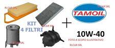 KIT TAGLIANDO OLIO TAMOIL 10W40 + 3 FILTRI LANCIA LYBRA 1.8 16V