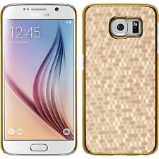 Hardcase for Samsung Galaxy S6 hexagon gold Cover + protective foils