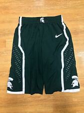 NIKE MICHIGAN STATE SPARTANS NCAA MENS BASKETBALL GAME SHORTS GREEN S M