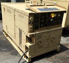 MILITARY MEP803A 9-2013 REMAN 10KW 60HZ DIESEL QUIET GENERATOR 120-240 VAC & 208