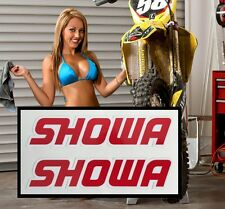 "SHOWA ★ 2 PACK ★ 7"" Fork Decals Stickers Suzuki RM-Z RMZ KX 250 450 100 F CRF"