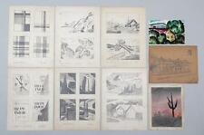 American Harry Pelcher group 9 works on paper Mobile Alabama & other ca. 20th c.