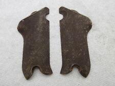 Erma LA22 22LR Luger Type Brown Plastic Grips...Used Pistol Parts..EA03