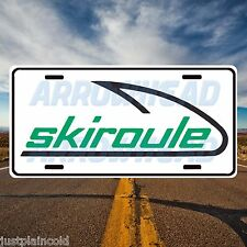 Skiroule vintage snowmobile licence plate