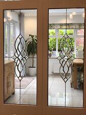 Beveled Glass Internal French Doors (White Primed)
