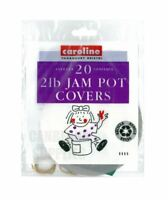 CAROLINE 20PK 2LB JAM PRESERVE PRESERVING POT JAR COVERS LABELS BANDS