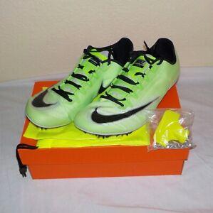 Nike Zoom 400 Sprint Running GREEN WHITE AA1205 300 SIZE 10 +Spikes + SRT +Bag
