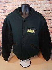 Vintage Arcticwear Arctic Cat Leather Letterman Varsity Jacket Bounty Hunter XL