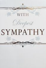 With deepest sympathy greetings card, flowers theme, suitable for anyone, new