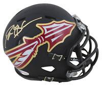 Florida State Deion Sanders Authentic Signed AMP Speed Mini Helmet BAS Witnessed