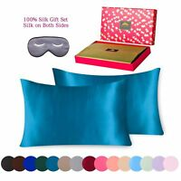 Silk Pillowcase 3 piece Gift Set 100% Pure Mulberry Silk-King Peacock