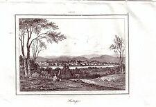 Santiago de Chile Amerika Stahlstich 1840 Ansicht Lateiamerika