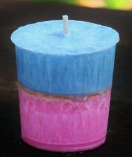 3pk ' INNOCENCE ' Votive Candles 60 hour PASTEL PINK & BLUE BABY SHOWER GIFTS