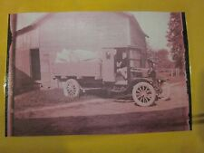 Model T Ford Pickup with full load and farmer Glass Negative Free ship!