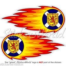 "Scotland scottish boule de feu-fire-flaming uk british 125mm (5"") stickers autocollants x2"