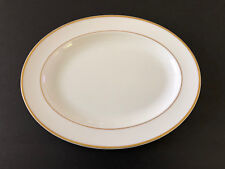 "NEW Royal Doulton ALICE H5122, White / Gold Trim - 13"" OVAL SERVING PLATTER"