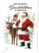 Grandchildren Christmas Card 'For Wonderful Grandchildren At Christmastime'