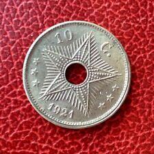 Congo Belge - Albert 1er - Magnifique  monnaie de 10 Centimes 1921 FR