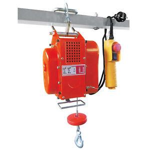 Seilwinde 230V elektrisch 200Kg Elektro Seilzug Winde inkl. Umlenkrolle Hub Kran