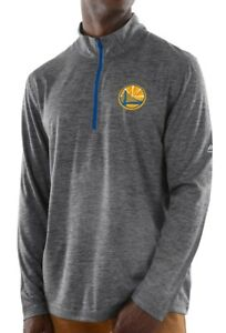 "Golden State Warriors Majestic NBA ""Focused"" 1/2 Zip Mock Neck Pullover Shirt"