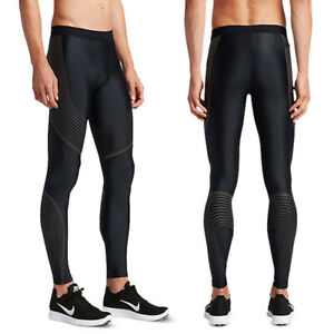 Sports Mens Running Compression Tight Leggings Male Gym Training Fitness Pants