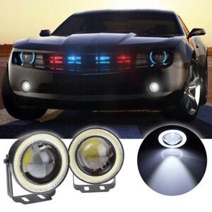 "2.5"" 64mm Car White LED COB Halo Angel Eye Halo Ring Fog Light Projector Lamp"
