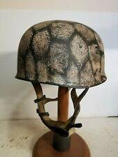 WWII German  M38 Fallschirmjager Winter Chickenwire pattern Paratrooper Helmet