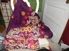 Vera Bradley Heavy duty X-Large laundry tote & stadium blanket in Safari Sunset