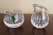 Vintage WATERFORD Crystal LISMORE Single Serving SUGAR BOWL & CREAMER Set MINT!