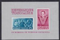 TOGO 7 AUGUST 1965 WINSTON CHURCHILL MINIATURE SHEET MNH