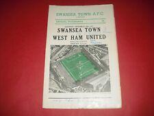 More details for 1957/58 swansea v west ham