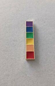Rainbow pin badge flag/pencils/bar stripes