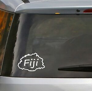 Fiji Map Sticker, 100mm
