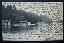 Boat Houses, SYLVAN BEACH Whitehall, Michigan postcard 1905