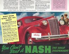 """NASH AUTO CORP 1938 IT'S A VALUE-BOMBSHELL 10.5"""" X 13.5"""" NEW PRICE VALUE AD"""