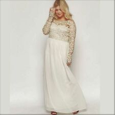 Chiffon Scoop Neck A-line Long Sleeve Wedding Dresses